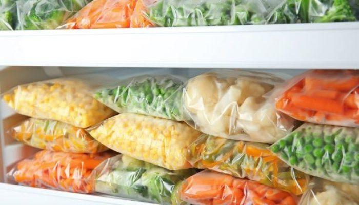 Example of frozen food packaging